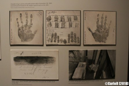 Sixth Floor Museum Dallas Kennedy Assassination Oswald Finger Palm Prints
