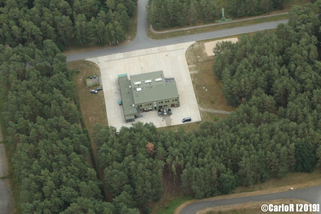Control and Reporting CRC Point Schönewalde NATO German Air Force Bundeswehr - Aerial View Picture Luftbild