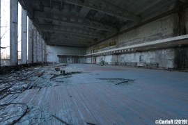 Ghost Town Gym Pripyat Cold War Chernobyl Nuclear Power Plant Exclusion Zone