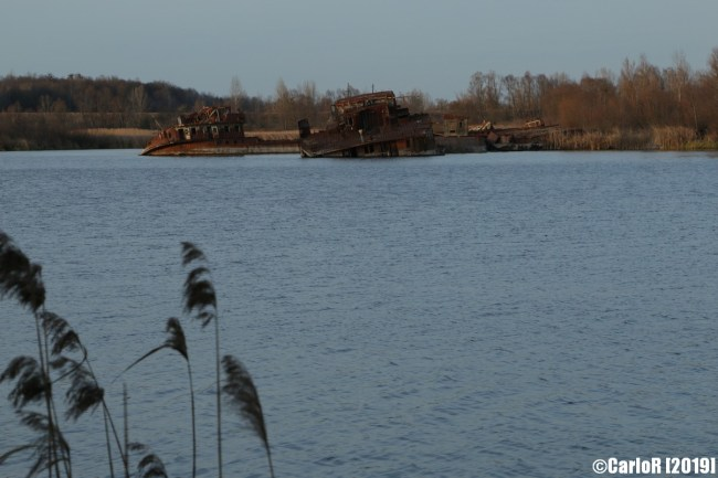 Drifting Barges Stranded Boats Cold War Chernobyl Nuclear Power Plant Exclusion Zone Pripyat