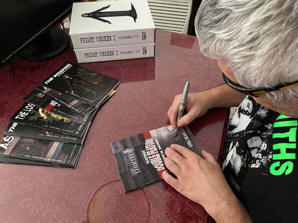 Joe signing Double Feature