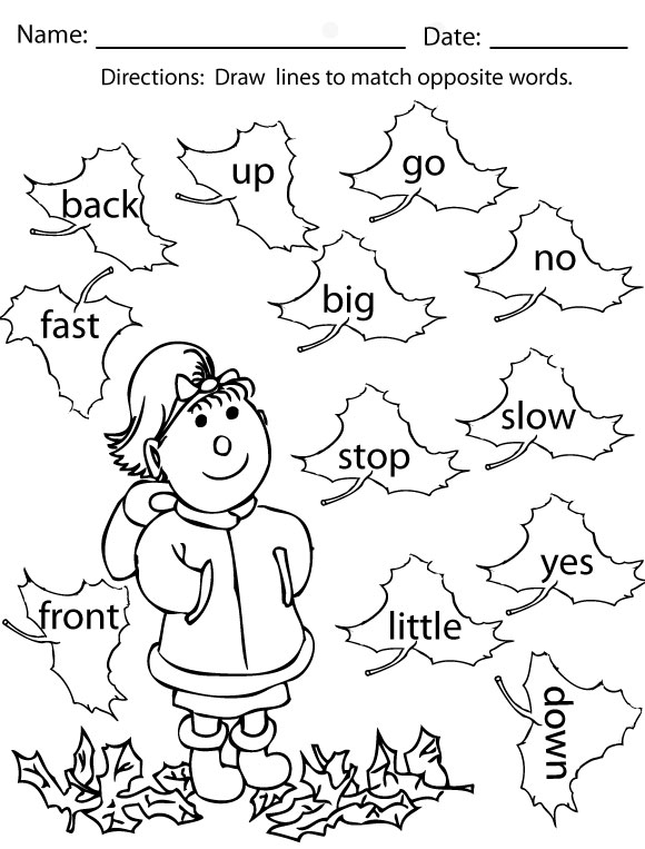 fall coloring pages and activities  sight words reading