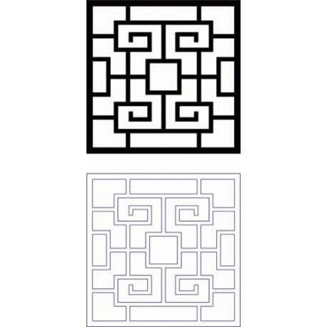 Fichier DXF de motif de grille Dxf Design