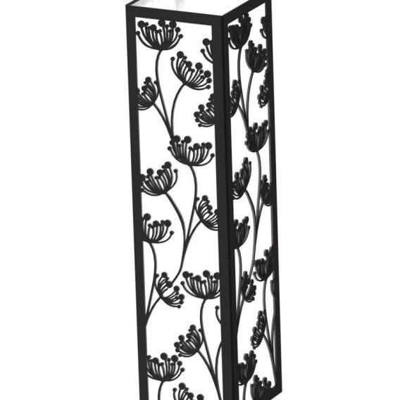 Abat jour luminaire en bois motif fleurs