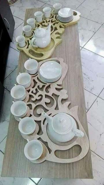Plateau décoratif pour thé