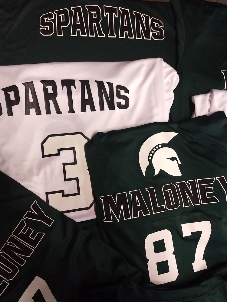 Malloney Spartans Volleyball PC380 DK Green