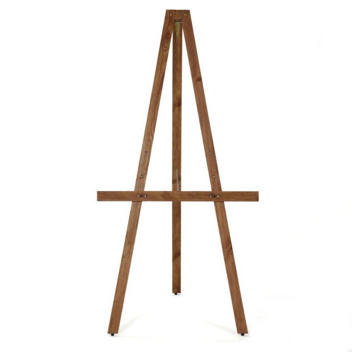 simple display easel dark wood