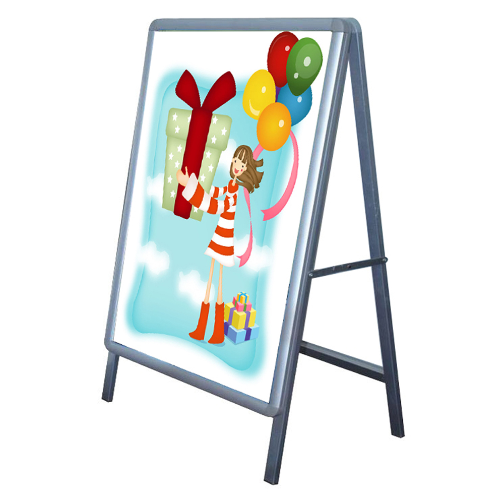 45 00 big size single sided freestanding 90x120cm a frame poster stand street sign display board frame only