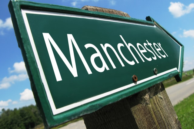 Manchester Road Sign