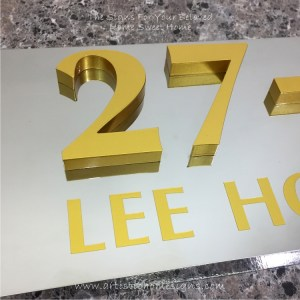 3D Numbers Etching Address Sign Plaque 27-1