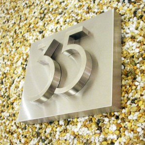3D Stainless Steel Numbers Address Sign Plaque 35 01