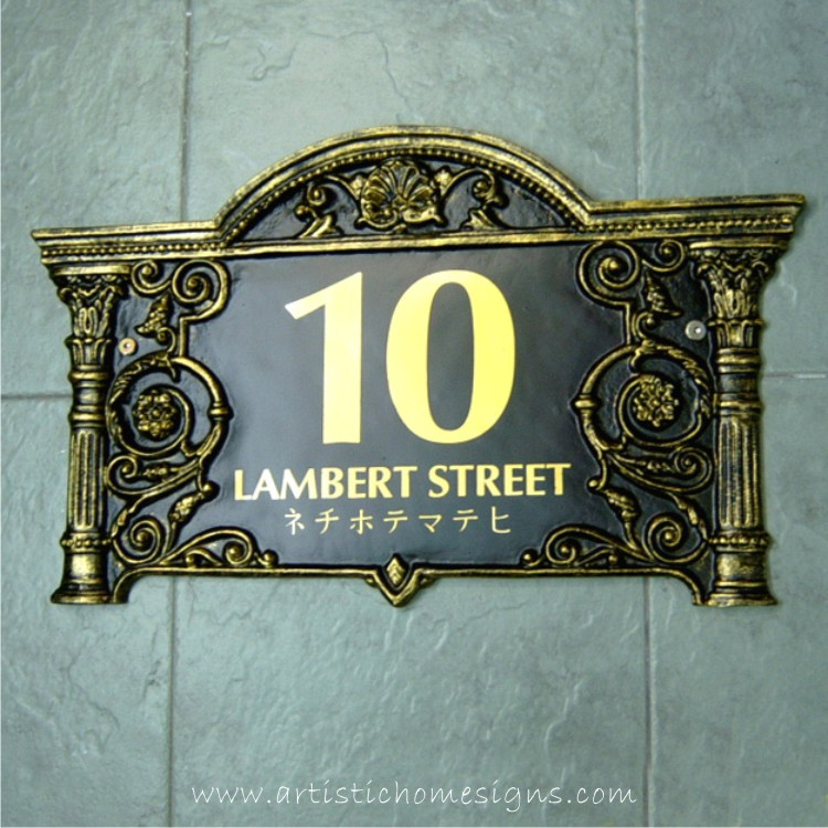 LAC-006 Lace Sign Antique Gold 10