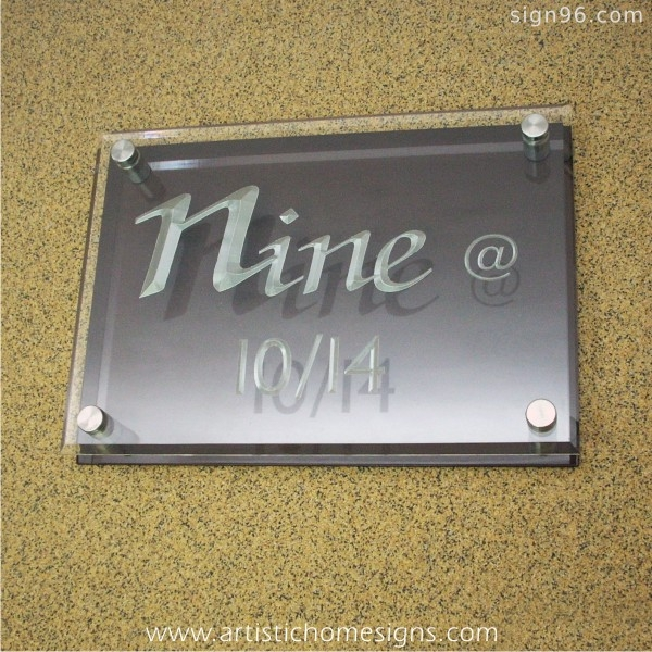 Crystal Clear Acrylic With Silver Letters & Black Background Board