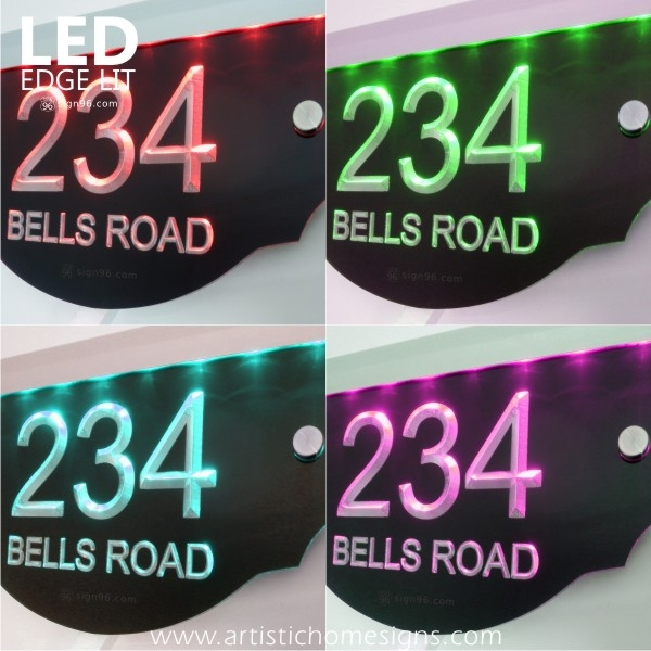 LED Edge Lit Glow Engraving Acrylic Signs
