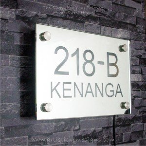 Contemporary Rectangle Mirror Etching Signs 218-B