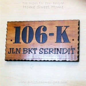 WDR-350 Rectangle Wooden House Sign Gold Letters 106K