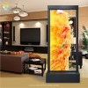Artistic Waterfalls - Unique Handcrafted Etching Glass Feng Shui Divider Floor Fountain - Koi