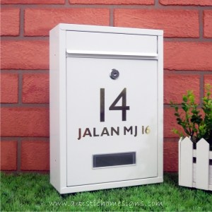 MLB-506 Tenuous Basic Powder Coated Metal Mailbox 18