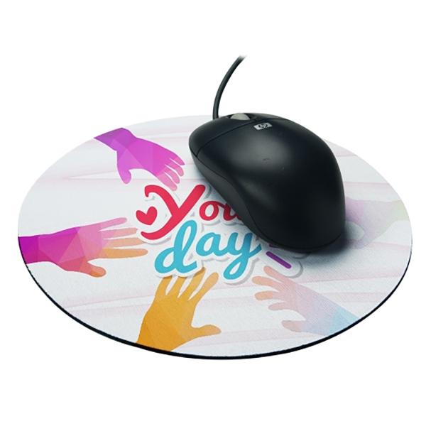 tapis de souris personnalise diametre 20cm epaisseur 3 mm prix degressif