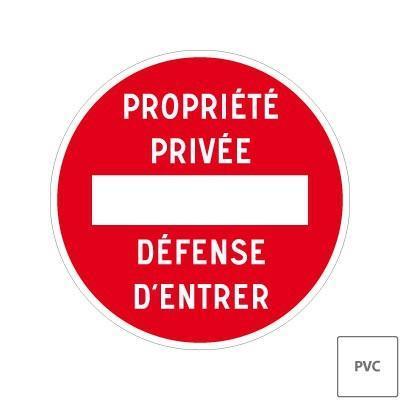 Panneau Pvc Ou Adhesif Propriete Privee Defense D Entrer