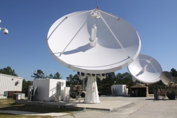 The Fort Bragg Regional Hub satellite dishes