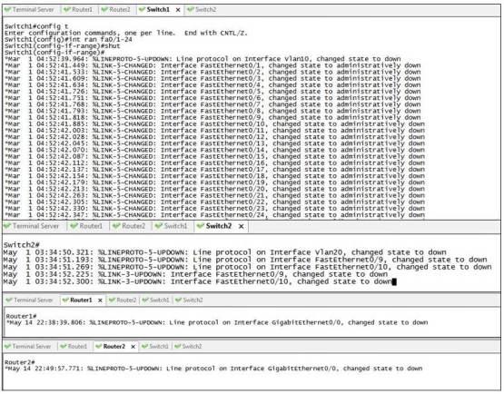 Interface Shutdown Unsynch