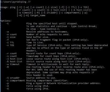 Windows Ping Command