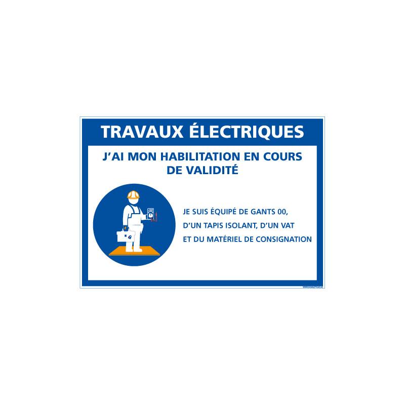 panneau travaux electriques e0628