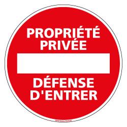 Panneau Propriete Privee Defense D Entrer L0264