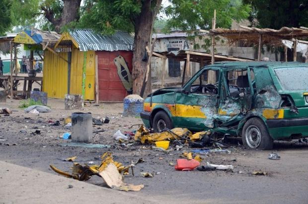 The scene of a bomb blast at Gomboru market in Maiduguri, in Nigeria's northeastern Borno State, on July 31, 2015, AFP/File