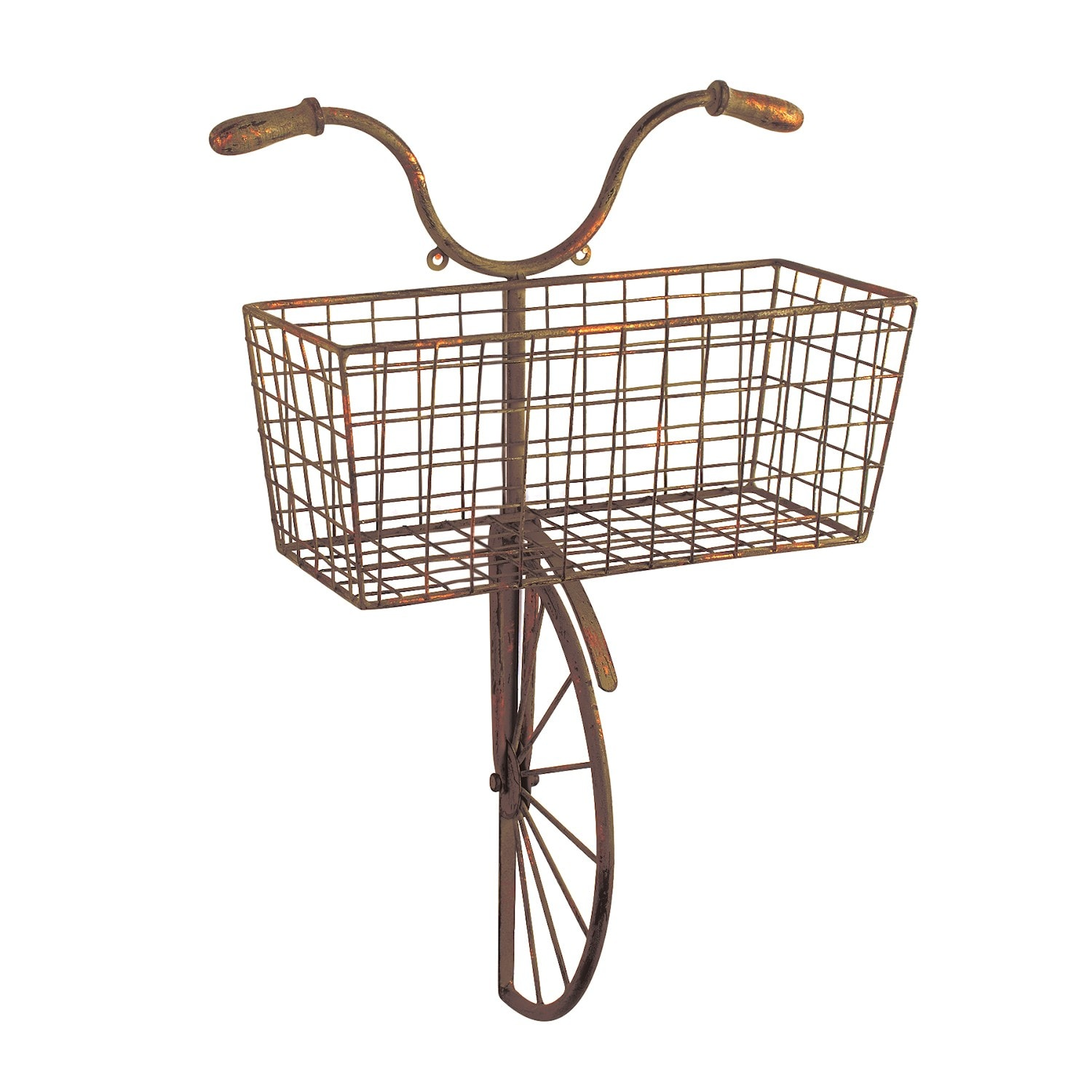 Details About Iron Bicycle Wall Decor Basket For Storage Magazine Rack Flower Pot Holder