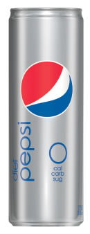 """New Diet Pepsi """"Slim"""" can design"""