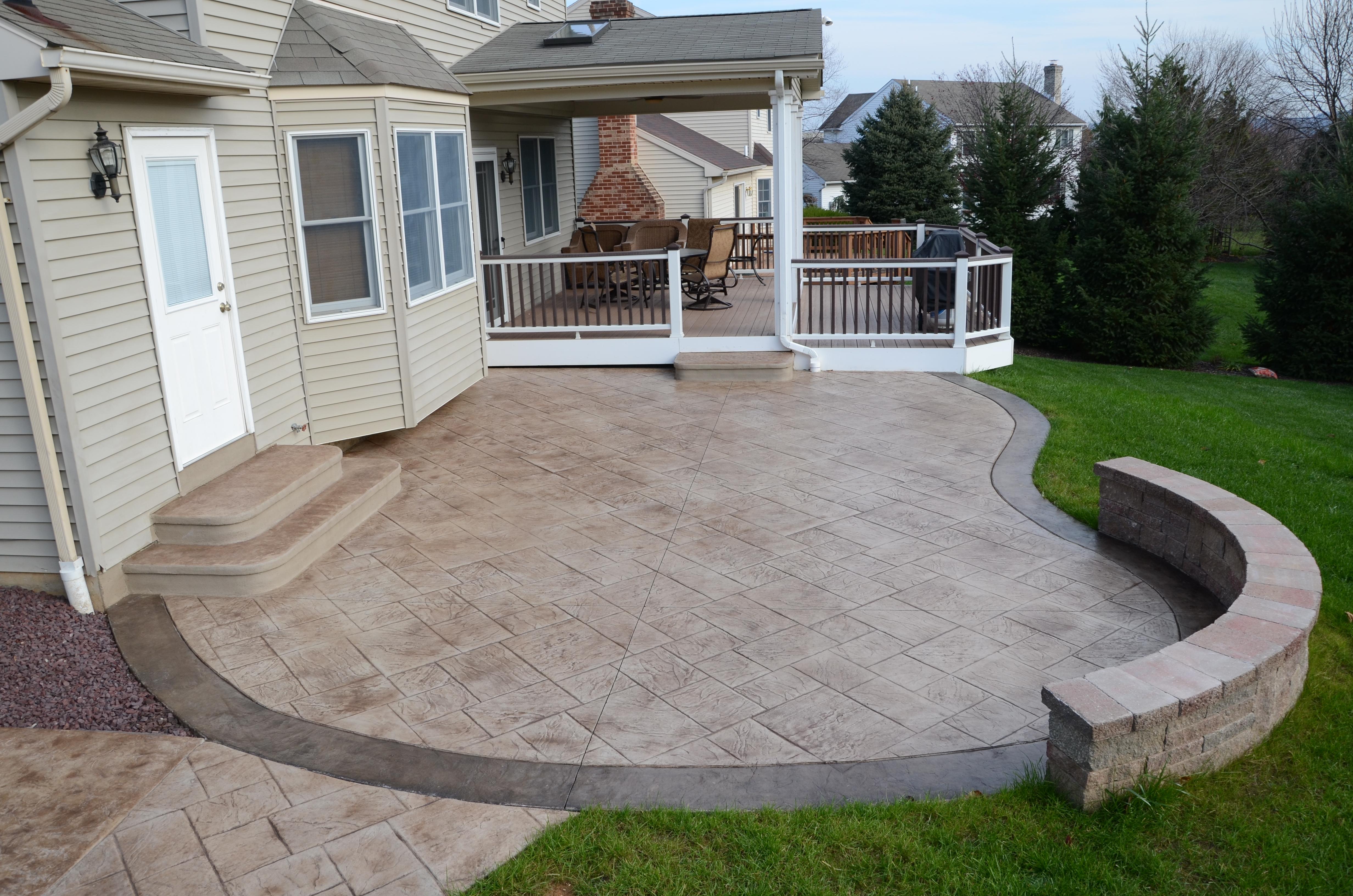 stamped concrete patio signature concrete design