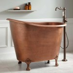 49 Abbey Hammered Copper Slipper Clawfoot Soaking Tub Antique Copper Bathroom