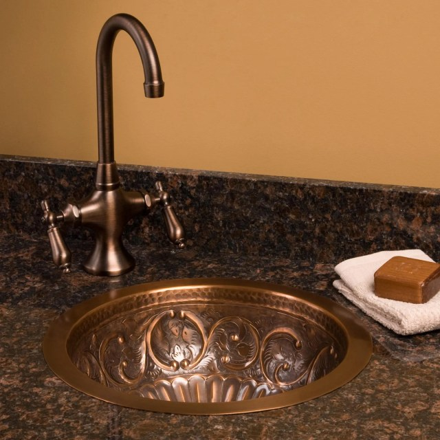 Hammered Undermount Copper Sink