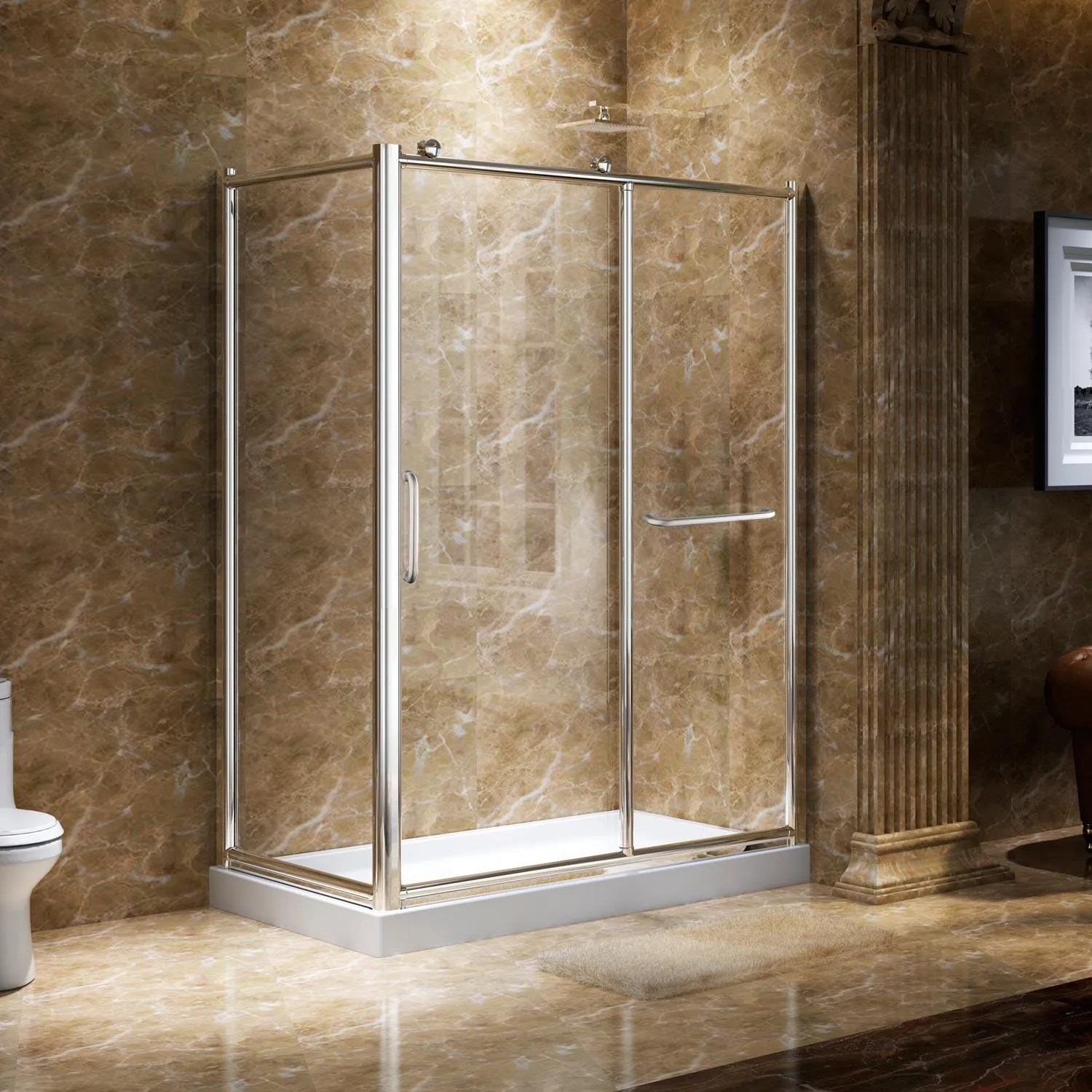 45 X 31 Alva Corner Shower Enclosure With Sliding Door