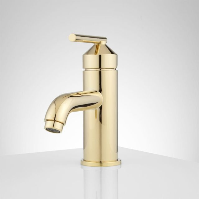 Engle Single Hole Bathroom Faucet with Pop Up Drain Bathroom
