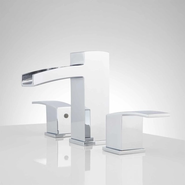 Morata Widespread Waterfall Bathroom Faucet Bathroom