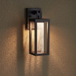 Topping Outdoor Entrance Wall Sconce Single Led Light Black Outdoor Lighting Lighting