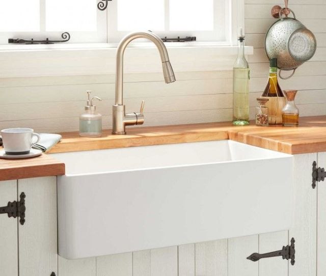 Reinhard Fireclay Farmhouse Sink White