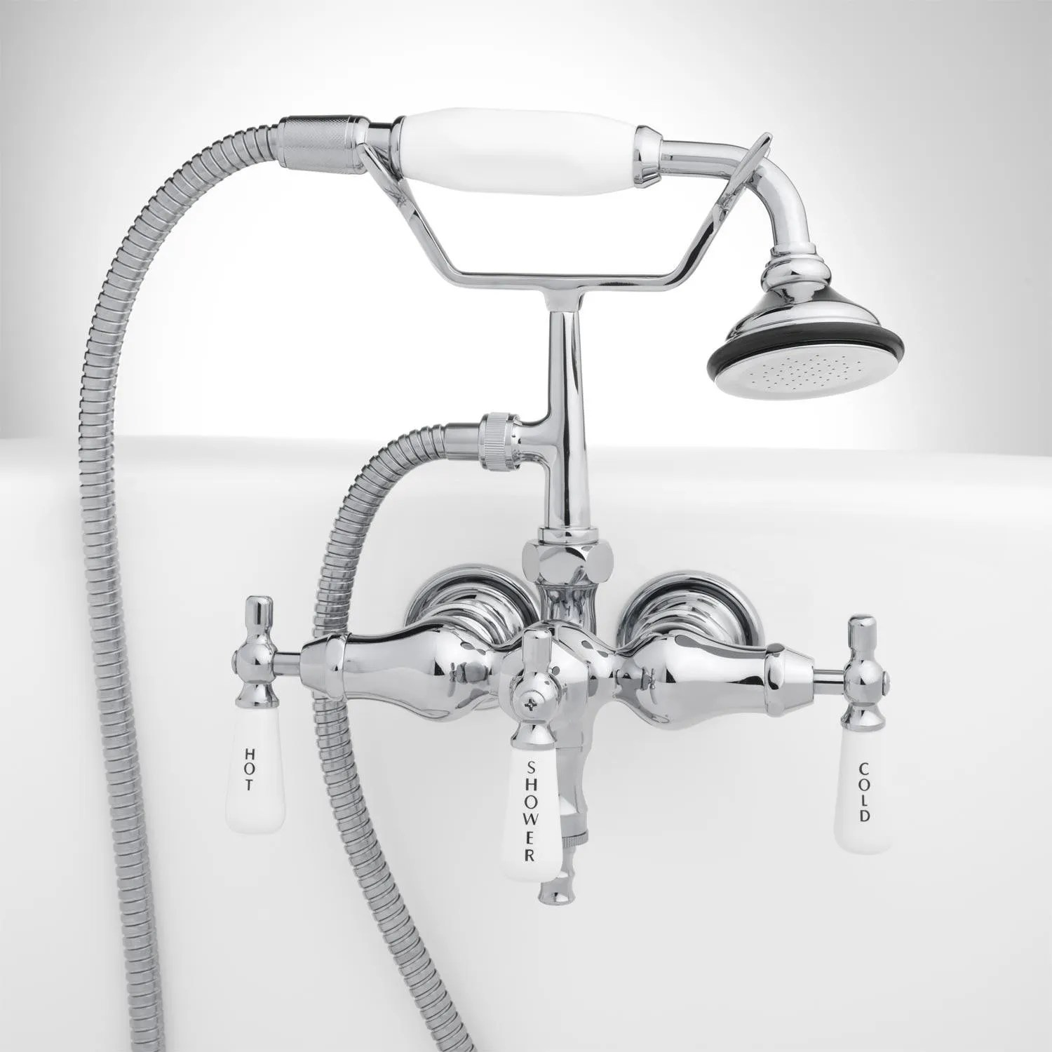Woodrow Wall Mount Tub Faucet And Hand Shower Bathroom