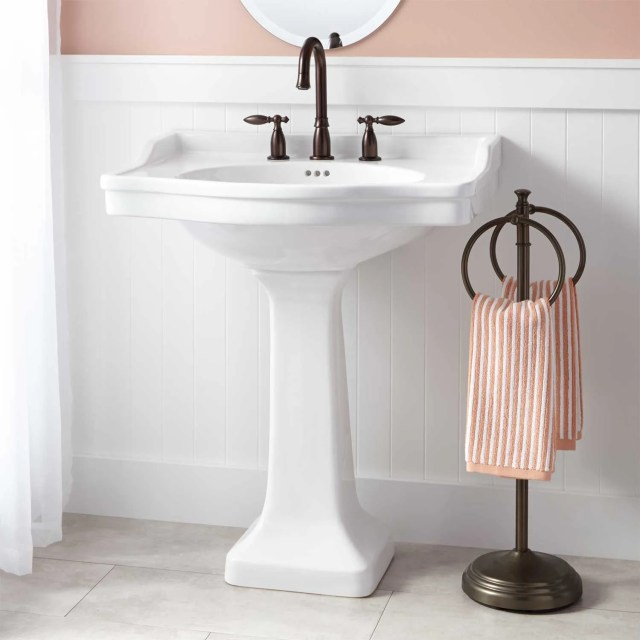 Cierra Porcelain Pedestal Sink Bathroom