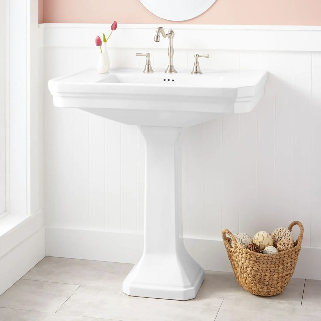 Kacy Porcelain Pedestal Sink Bathroom