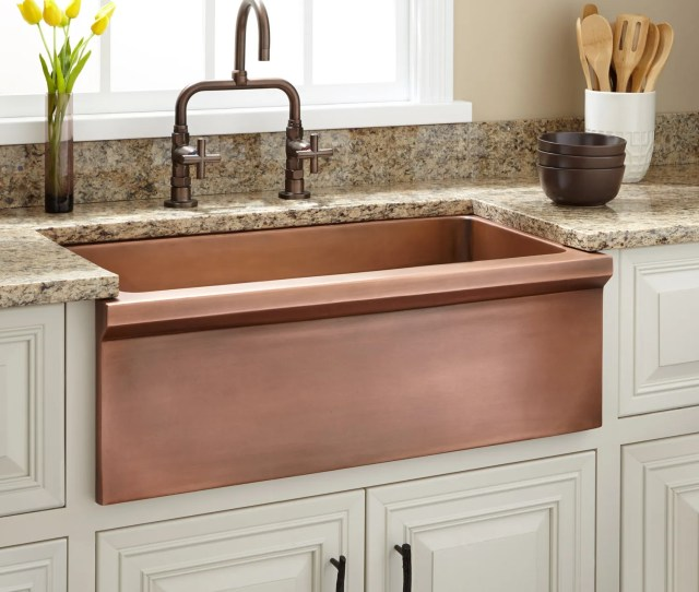 Bria Copper Farmhouse Sink