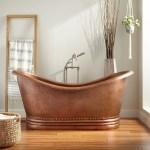 Paige Hammered Copper Double Slipper Tub Bathroom