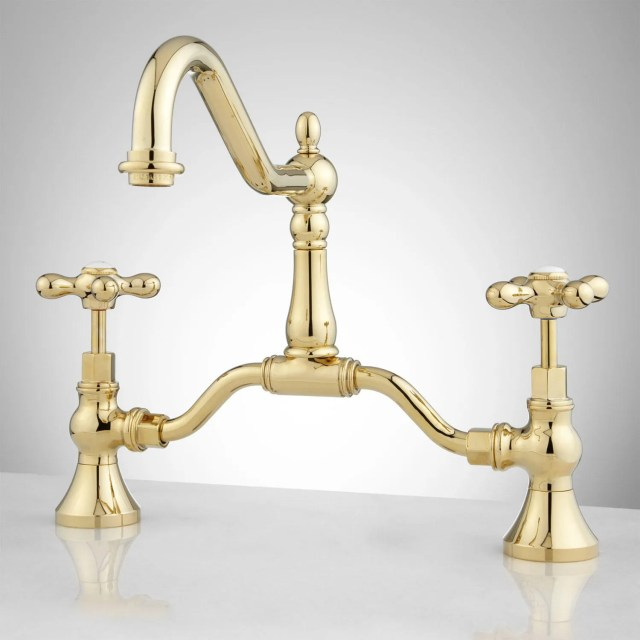 Elnora Bridge Bathroom Faucet Cross Handles Bathroom