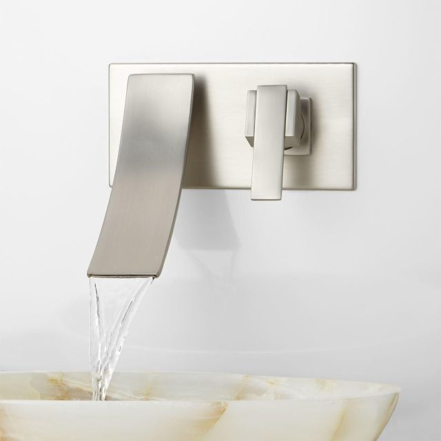 Reston Wall Mount Waterfall Bathroom Faucet Bathroom