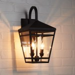 Edgehill 2 Light Outdoor Entrance Wall Sconce Black Outdoor Lighting Lighting