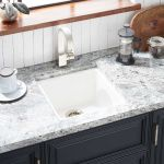 17 Totten Granite Composite Undermount Prep Sink White Kitchen