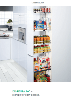 Dispensa tall larder pull-out